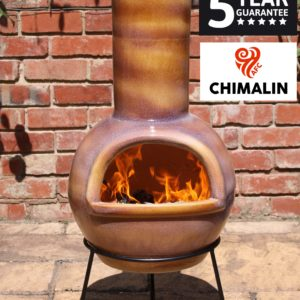 Sempra Chimalin AFC Chiminea - Glazed Mid-Brown