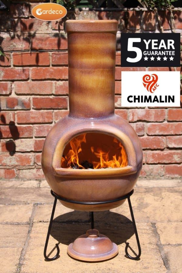 Sempra Chimalin AFC Chiminea - Glazed Mid-Brown