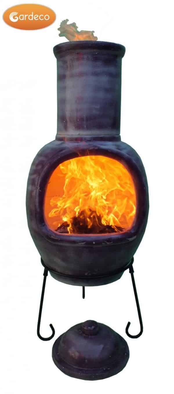 Asteria Chimalin AFC Chiminea - Glazed Mottled Purple (Extra Large)