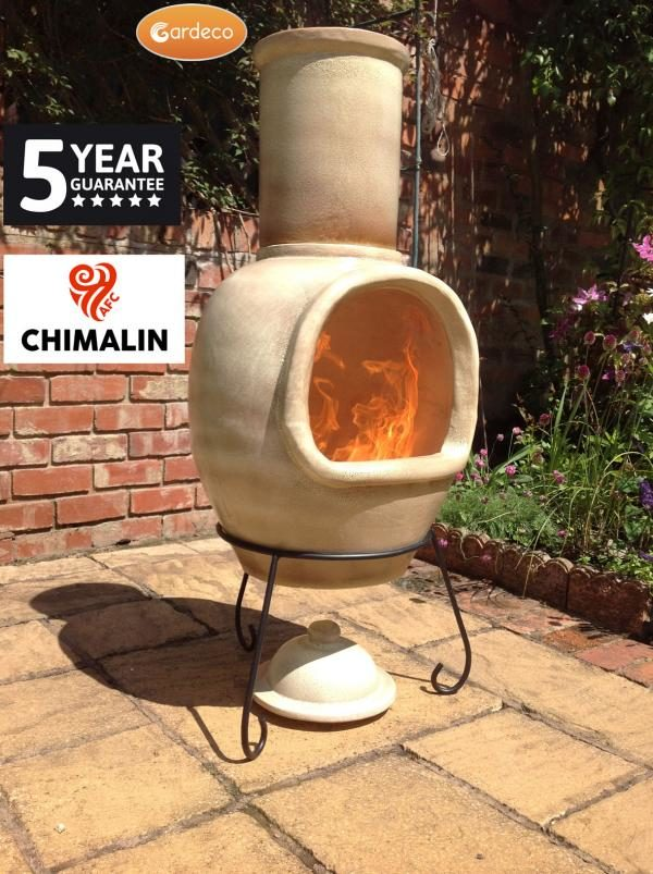 Asteria Chimalin AFC Chiminea - Glazed Mottled Light Brown (Extra Large)