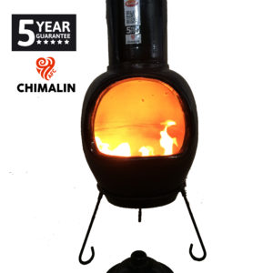 Asteria Chimalin AFC Chiminea - Glazed Black (Extra Large)