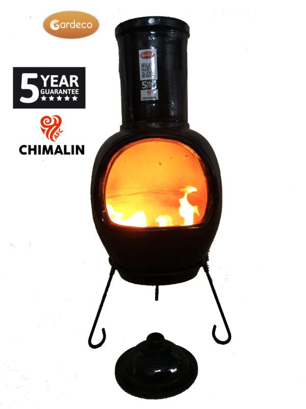 Asteria Chimalin AFC Chiminea - Glazed Black (Extra Large)