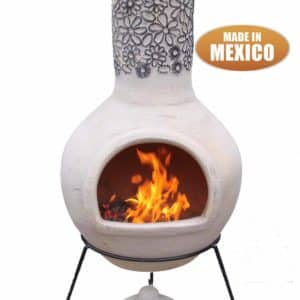 Flores Mexican Chiminea in Beige and Dark Drown (Extra-Large )