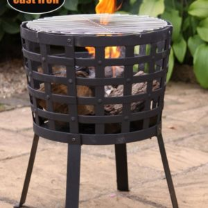 Aragon Fire Basket with fire