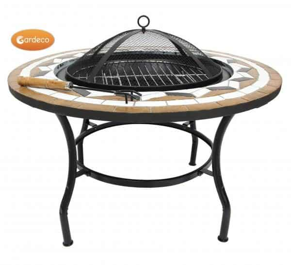 Calenta Steel Fire Bowl Table with spark guard
