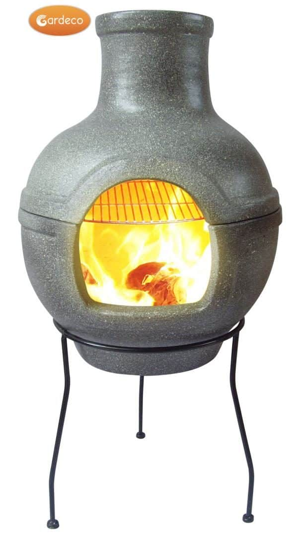 Large Cozumel BBQ Chiminea in granite effect paint