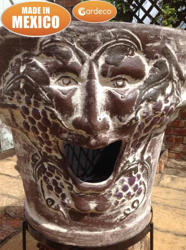 Asadro Bacchus Clay Firebowl close up