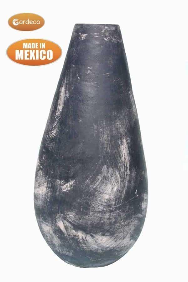 Gota - Mexican Art Chiminea in Oxidised Green (Medium) - Rear View