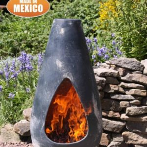 Gota - Mexican Art Chiminea in Oxidised Green (Medium) - Lifestyle