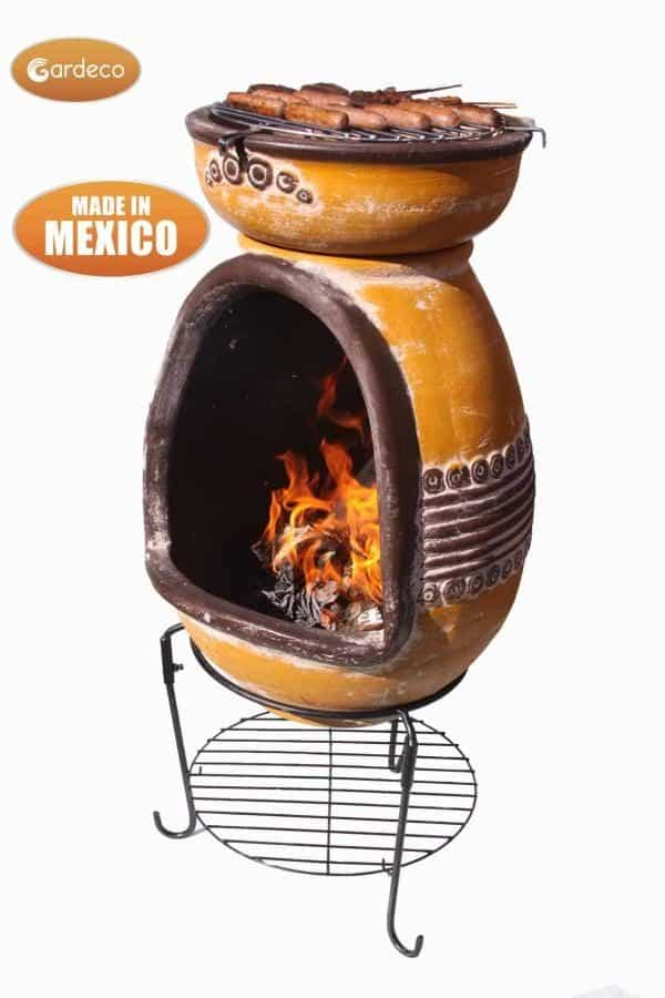 Asador Azteca Clay BBQ with white background