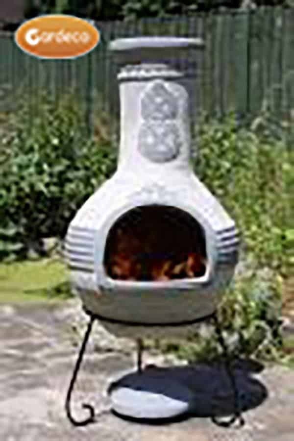Azteca Mexican Chiminea Extra-Large in Grey
