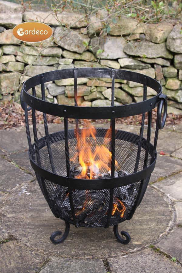 Brazier Fire Pit in garden