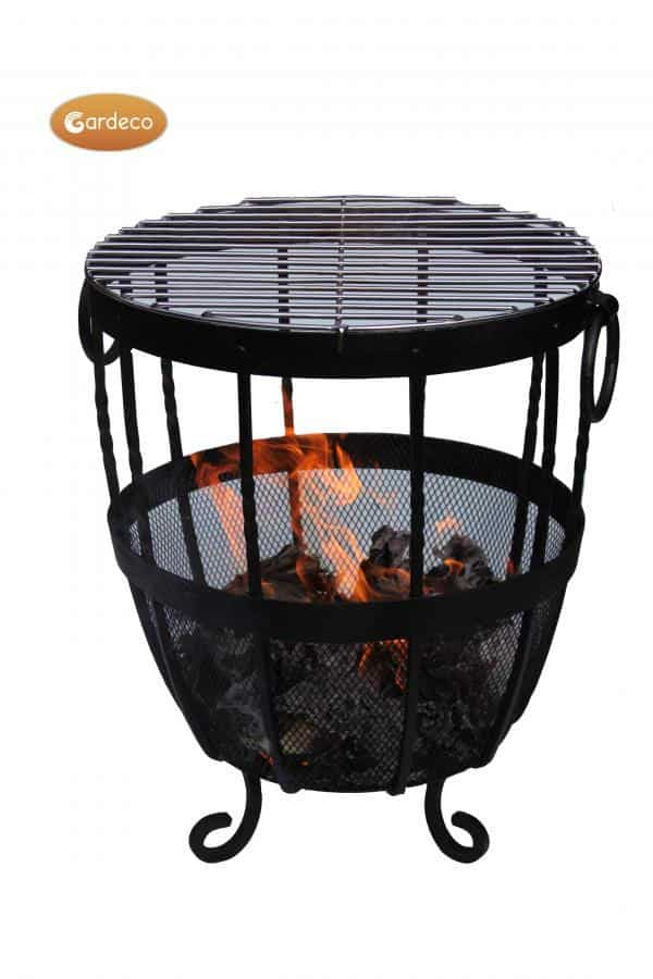 Brazier Fire Pit with fire